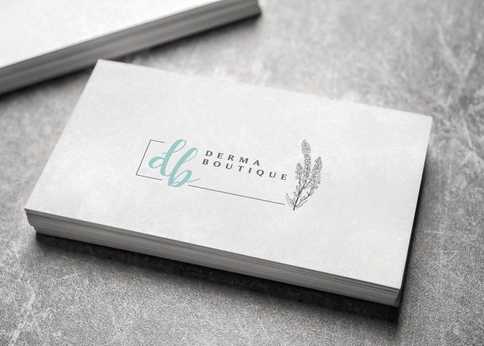 DERMA BOUTIQUE - עיצוב לוגו ושפה גרפית למכון יופי