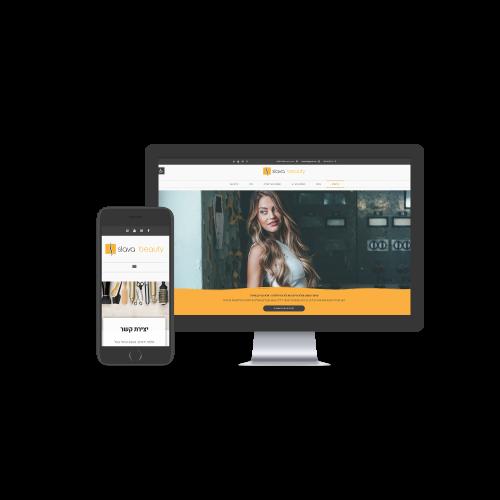עיצוב אתר תדמית ל SLAVA BEAUTY סלבה ביוטי בהתאמה אישית ללקוח