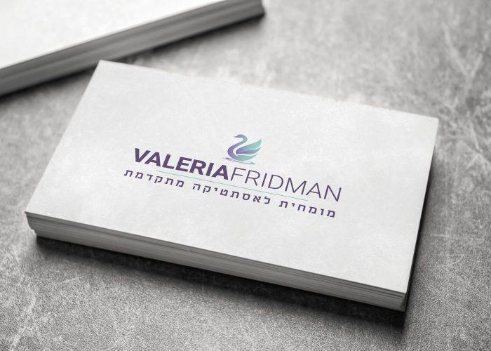 ולריה פרידמן - עיצוב לוגו ושפה גרפית למומחית לאסתטיקה מתקדמת